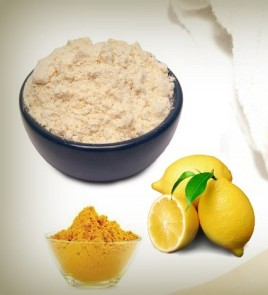 gram-flour-lemon-juice-turmeric-powder