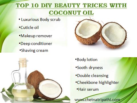 coconut oil beauty hacks