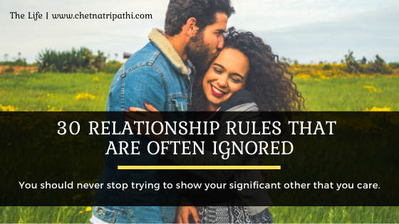 Relationship to rules to live by