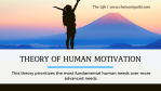 Theory of human motivation by Abraham Maslow