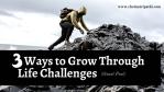 a man climbing a mountain | Life challenges | Motivation